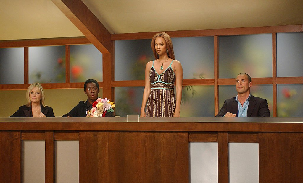 Image Credit: Getty Images / Icon Twiggy, runway expert J. Alexander, creator and executive producer Tyra Banks and photographer Nigel Barker serve as the panel of judges in AMERICA'S NEXT TOP MODEL.