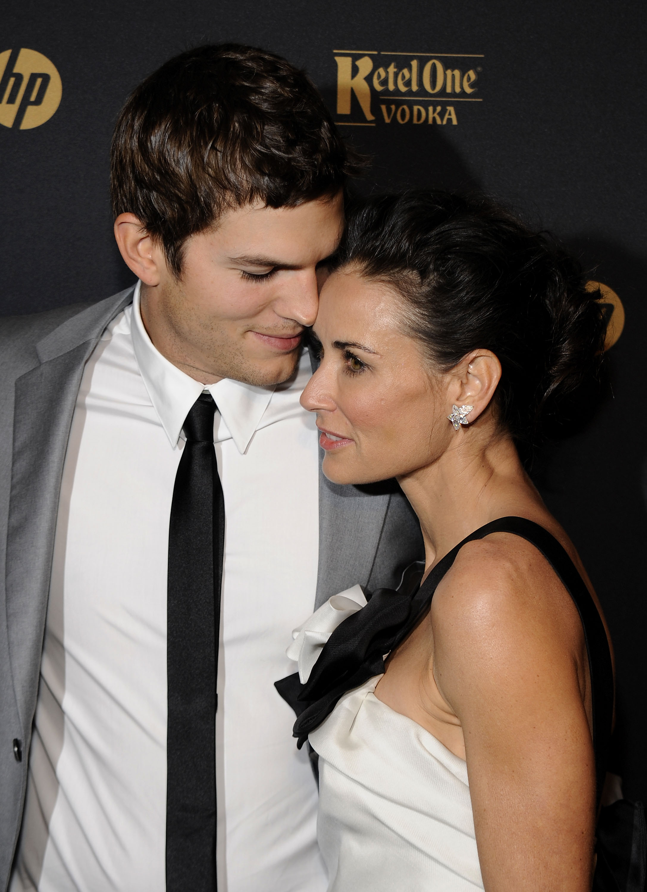 Image Credits: Getty Images / Larry Busacca | Ashton Kutcher and Demi Moore attend the GQ Gentlemen's Ball 2009 at The Edison Ballroom on October 28, 2009 in New York City.