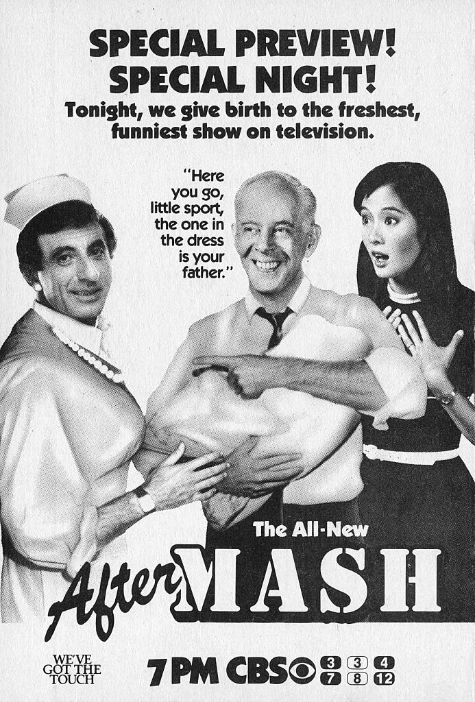 Image Credits: Getty Images / CBS | An ad for the situation comedy, After MASH