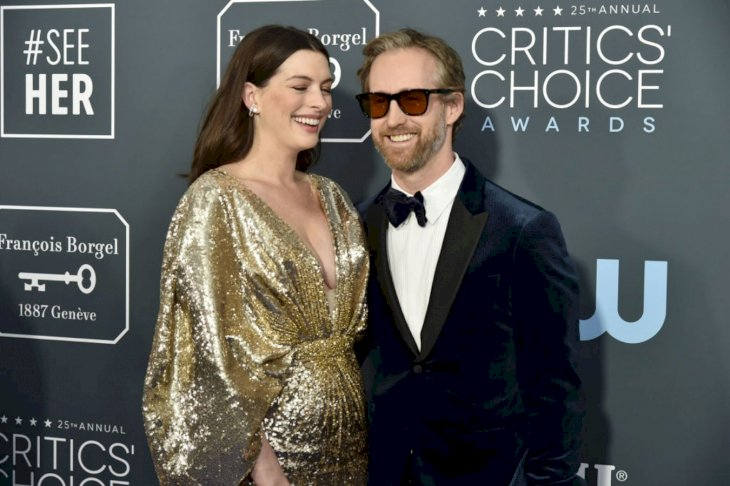 Image Credit: Getty Images/Patrick McMullan/David Crotty | Anne Hathaway Adam Shulman 2020