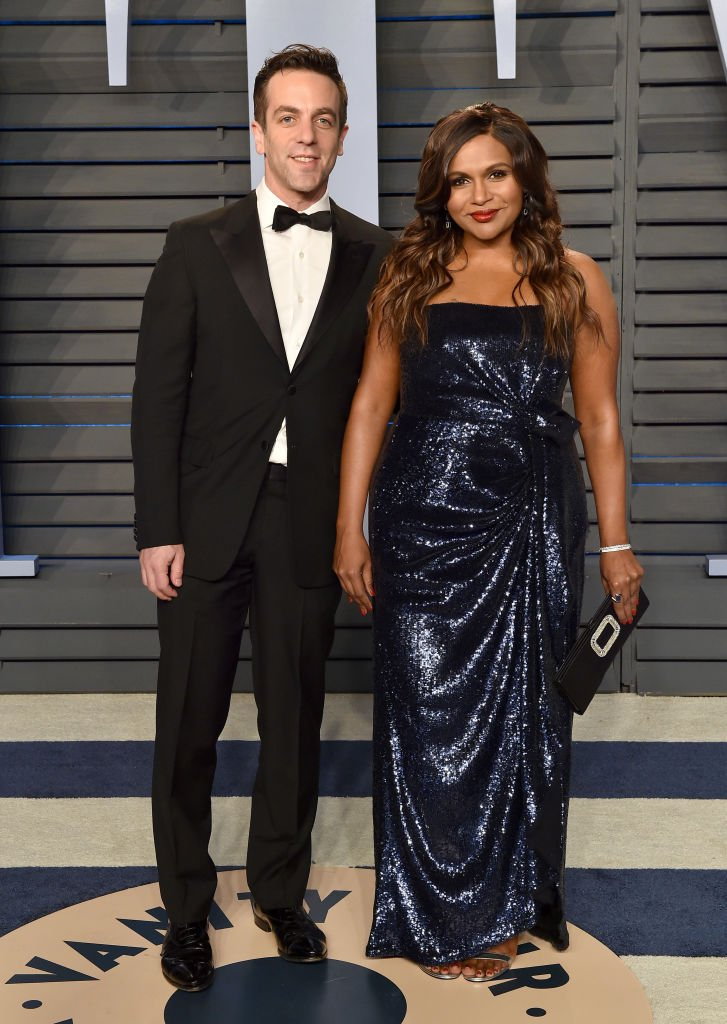 Image Source: Getty Images/Axelle/Bauer-Griffin/Actors BJ Novak and Mindy Kaling attend the 2018 Vanity Fair Oscar Party hosted by Radhika Jones at Wallis Annenberg Center for the Performing Arts