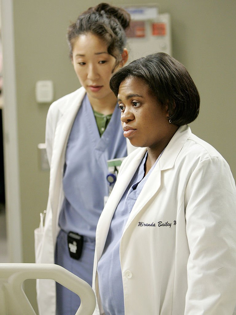 Image Credit: Getty Images/Walt Disney Television via Getty Images/Craig Sjodin | Sandra Oh and Chandra Wilson on set