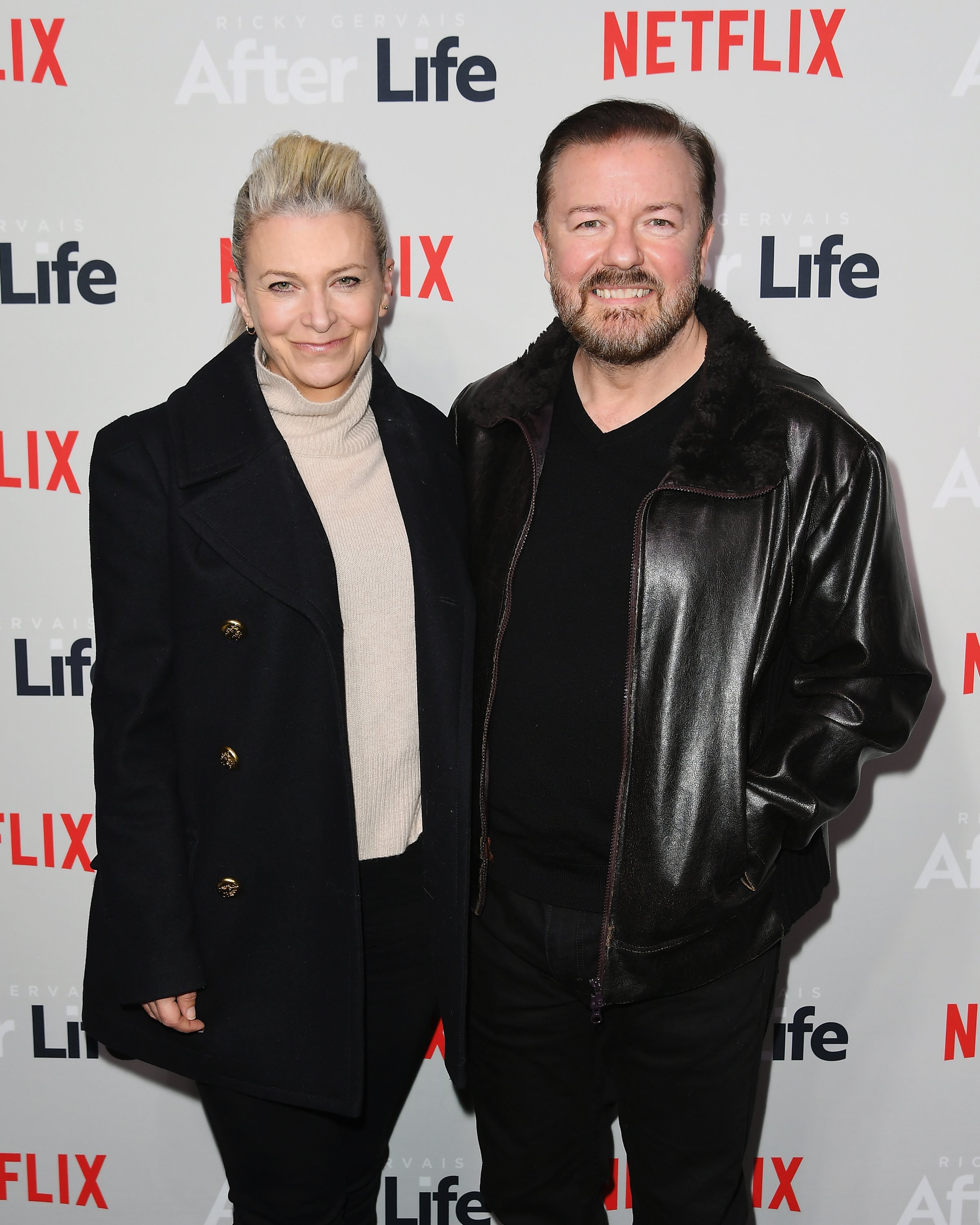 Jane Fallon and comedian Ricky Gervais / Photo:Getty Images