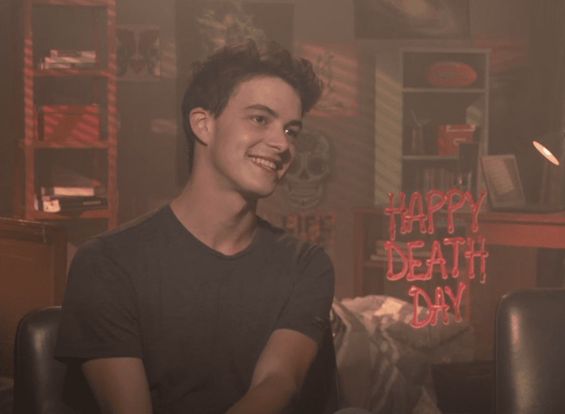Image Source: Youtub/FilmIsNow Movie Bloopers & Extras| Isreal having an interview about his movie, Happy Death Day