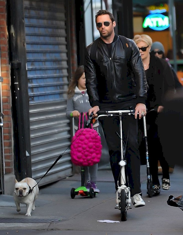 Image Credit: Getty Images / Deborra-lee Furness and Hugh Jackman in New York with their family.