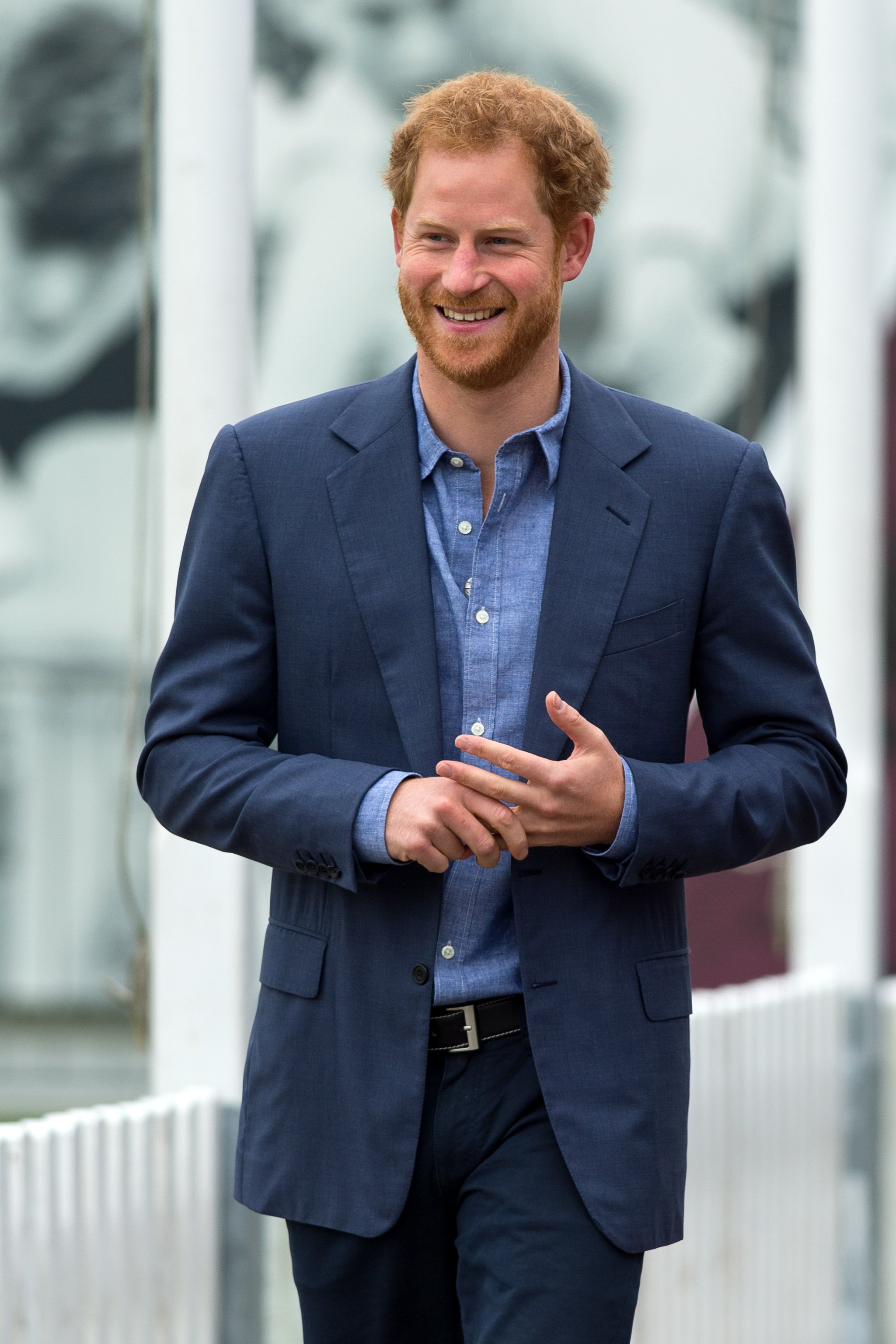 Image Credits: Getty Images / Ben A. Pruchnie | Prince Harry takes part in a training session during a celebration for the expansion of Coach Core at Lord's Cricket Ground on October 7, 2016 in London, England.