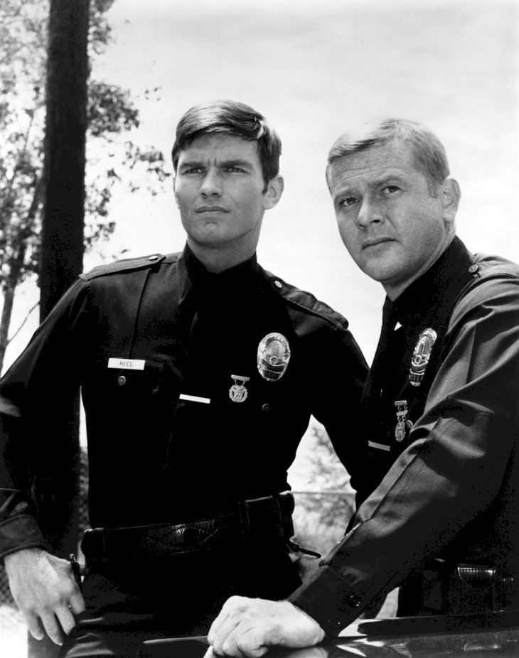 Image Credit: Getty Images/Michael Ochs Archive |Martin Milner and Kent McCord co-stars of the hit 1970's TV show Adam 12