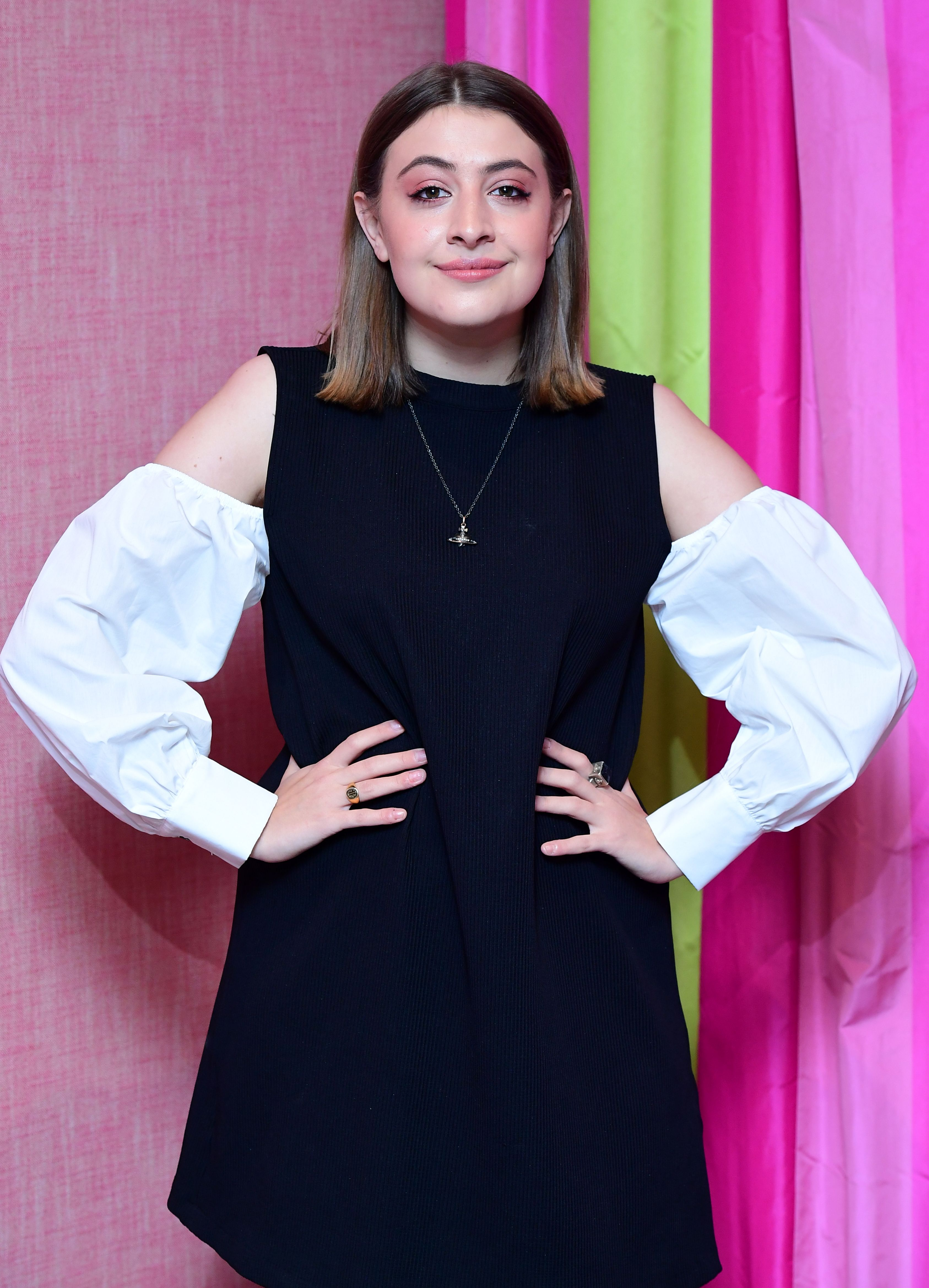 Georgia Groome attending the premiere of Double Date, held at the Soho Hotel, London. Picture Date: Tuesday 10 October. Photo credit should read: Ian West/PA Wire (Photo by Ian West/PA Images via Getty Images)