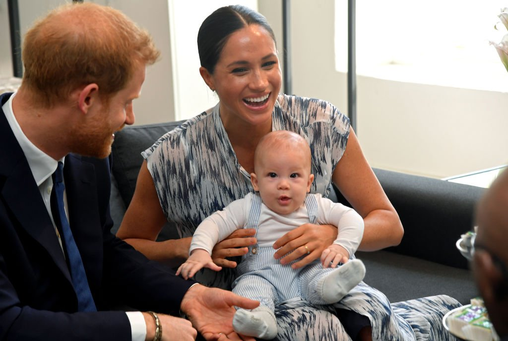 Prince Harry and Duchess Meghan with their baby Archie. | Image: Getty Images.