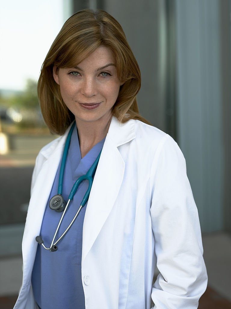 Image Credit: Getty Images/Walt Disney Television via Getty Images/Bob D'Amico | Portrait of Ellen Pompeo as Merideth Grey from Season One of the show