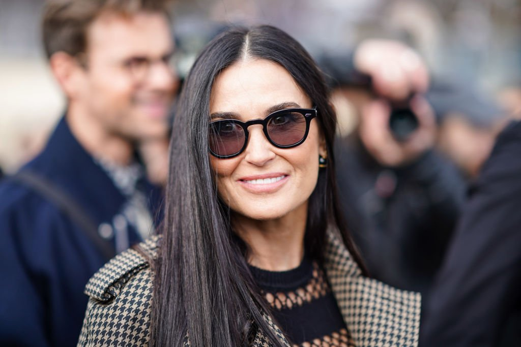 Image Credit: Getty Images / Demi Moore wears sunglasses, outside Dior, during Paris Fashion Week - Womenswear Fall/Winter 2020/2021.