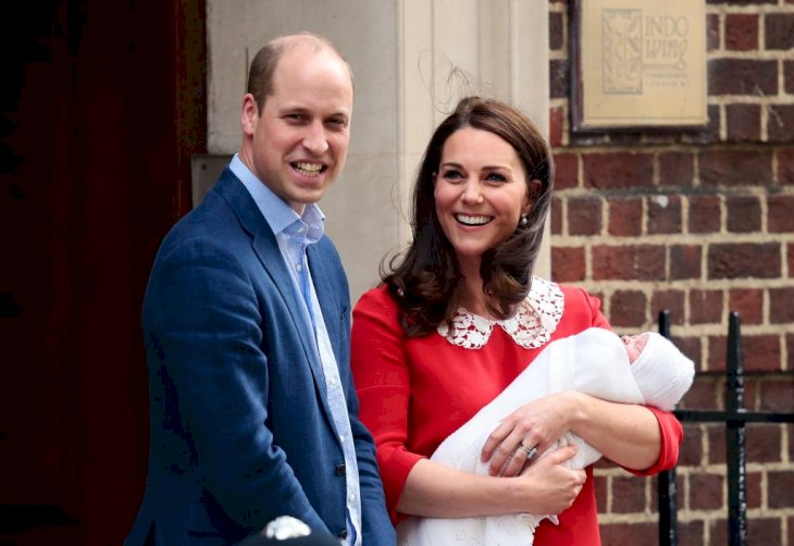 Image Credit: Getty Images / Kate Middleton with her husband, Prince William, and their newborn son, Prince Louis.
