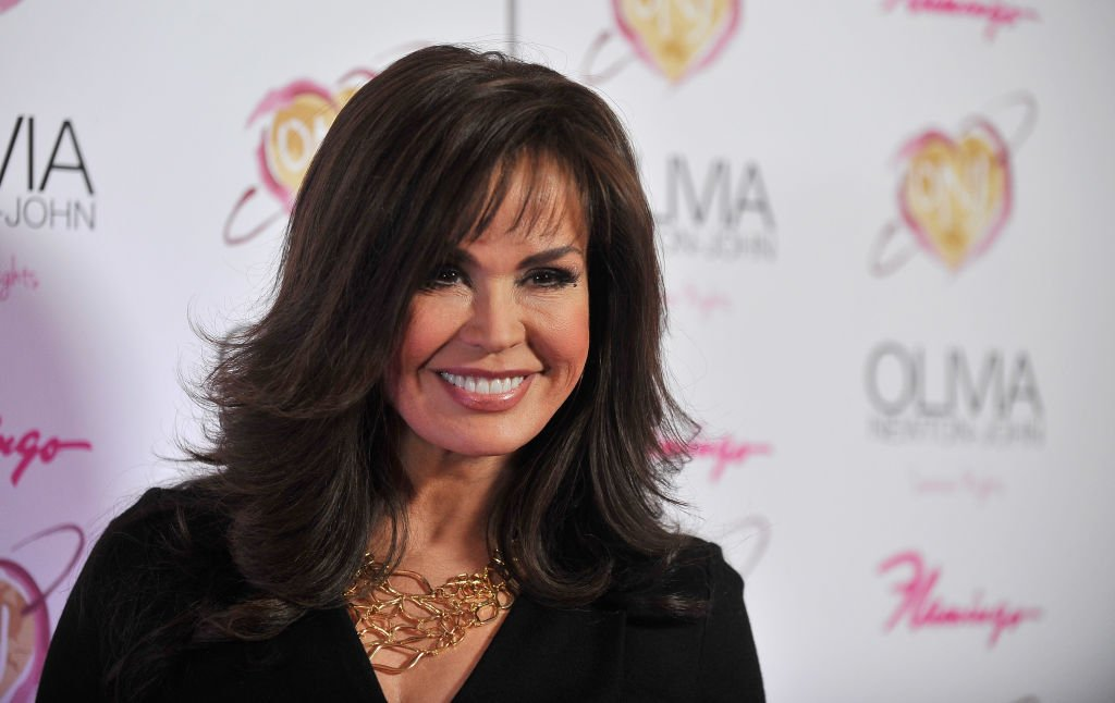 "Image Credit: Getty Images / Singer Marie Osmond attends the grand opening of Olivia Newton-John's residency show ""Summer Nights"" at Flamingo Las Vegas on April 11, 2014 in Las Vegas."