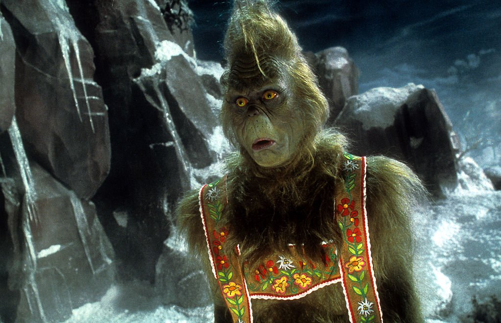 Image Credit: Getty Images / Jim Carrey in a scene from the film 'How The Grinch Stole Christmas', 2000.