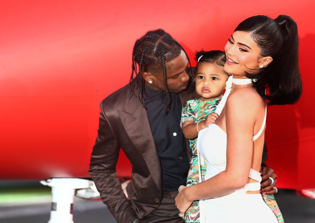 "Image Credit: Getty Images / Travis Scott and Kylie Jenner attend the Travis Scott: ""Look Mom I Can Fly"" Los Angeles Premiere at The Barker Hanger on August 27, 2019 in Santa Monica, California."