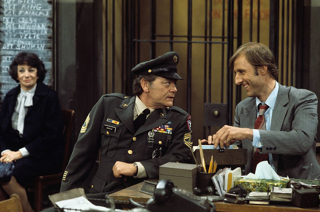 Image Credit: Getty Images / Florence Stanley, George Murdock, James Cromwell on set for Barney Miller.