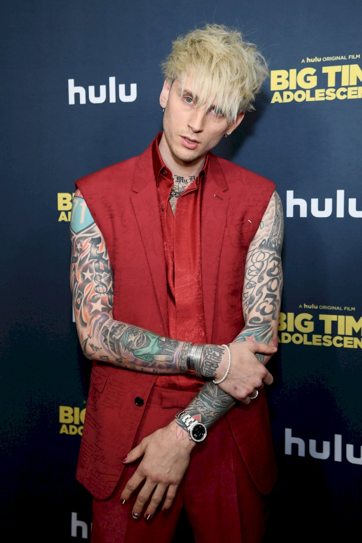 "Machine Gun Kelly attends the premiere of ""Big Time Adolescence"" / Getty Images"