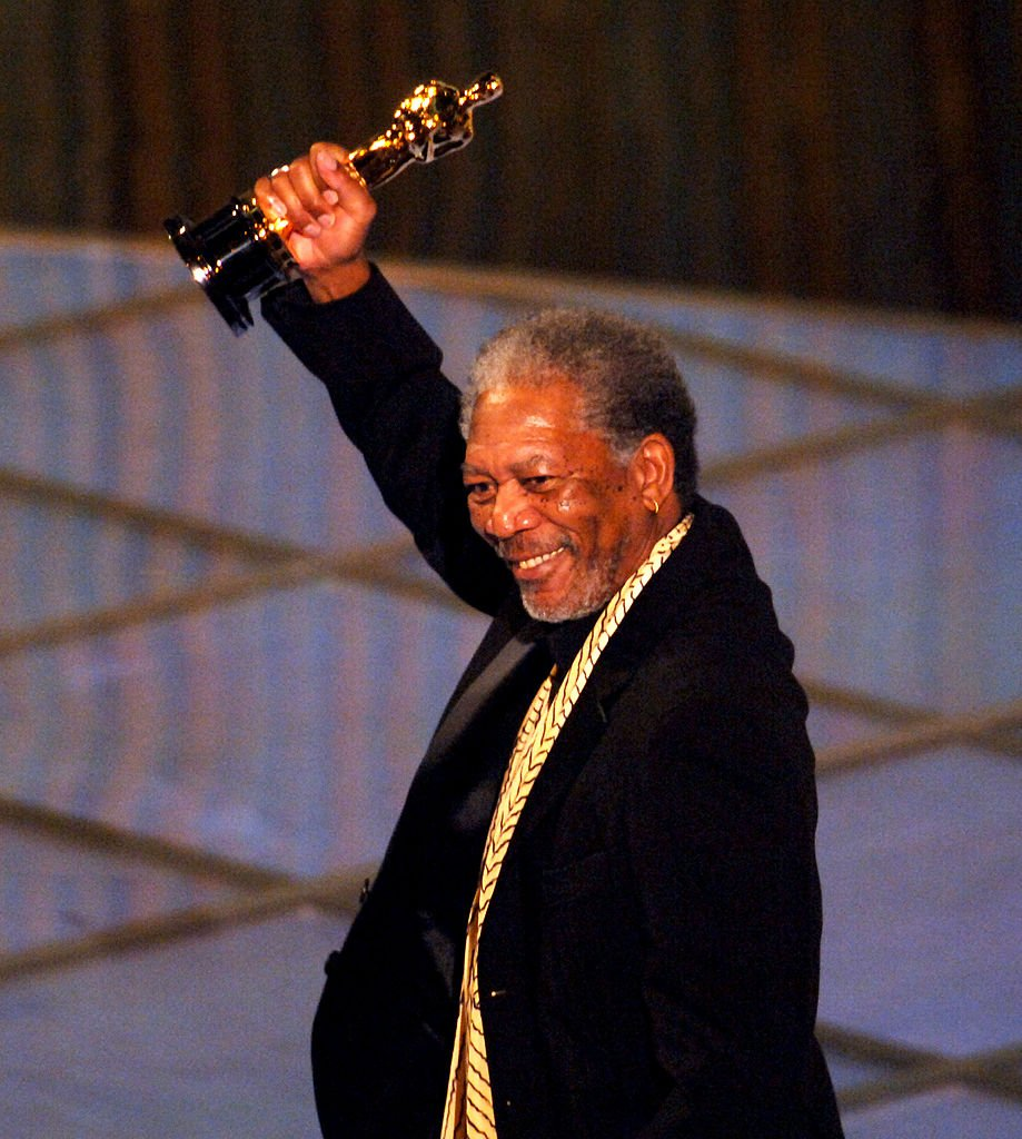 Image Credits: Getty Images / M. Caulfield/WireImage | Morgan Freeman accepting his award