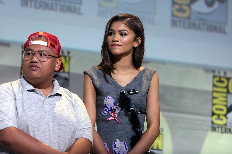 """Jacob Batalon & Zendaya"" (CC BY-SA 2.0) by Gage Skidmore / flickr"