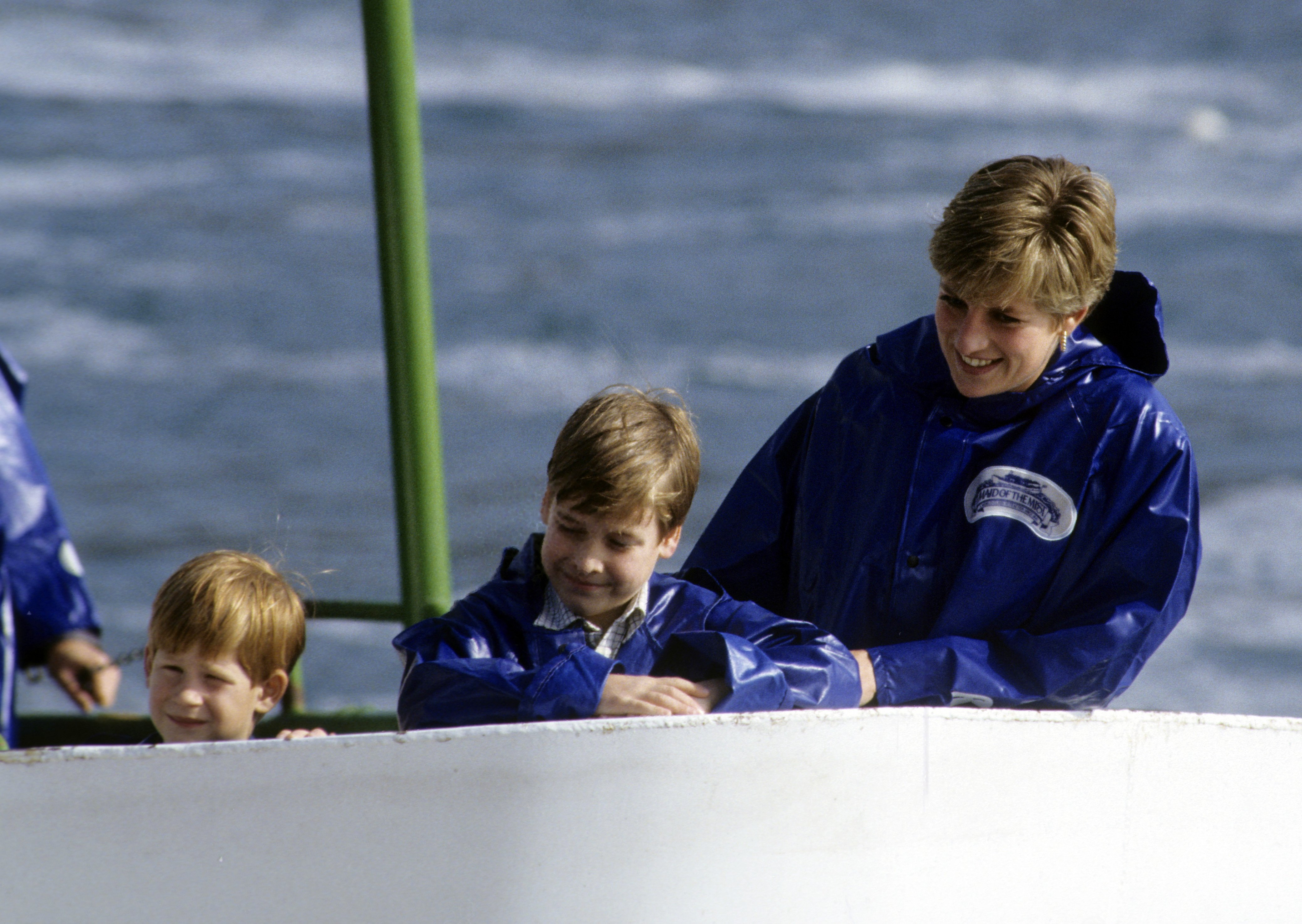 Image Credits: Getty Images | Princess Diana enjoying boat ride with William and Harry