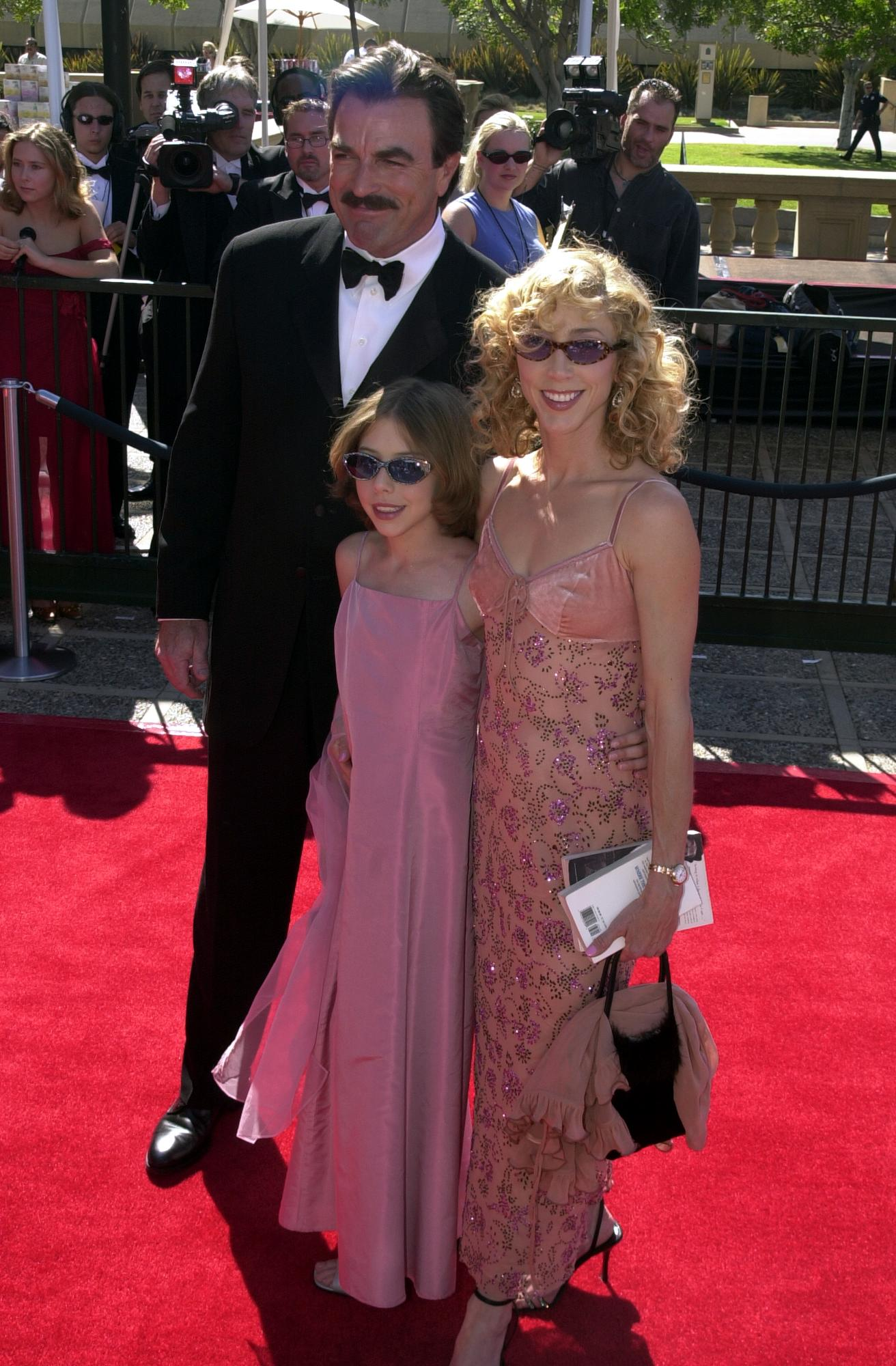 Image Credits: Getty Images / Ron Galella | The Selleck Family Attending the Creative Emmy Awards held at the Pasadena Civic Center in 2000.