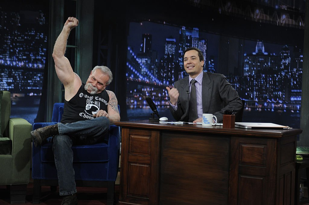 Image Credits: Getty Images / Dana Edelson / NBCU Photo Bank / NBCUniversal | Motorcycle designer and builder Paul Teutul, Sr. during an interview with host Jimmy Fallon on January 19, 2010.