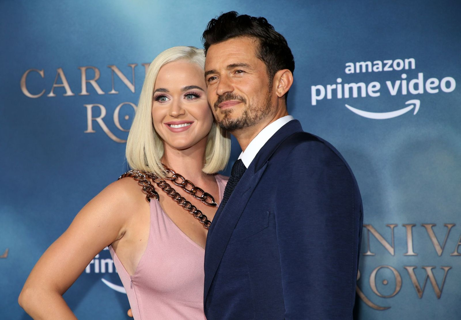 "Katy Perry and Orlando Bloom at the LA premiere of Amazon's ""Carnival Row"" at TCL Chinese Theatre in Hollywood/Photo:Getty Images"