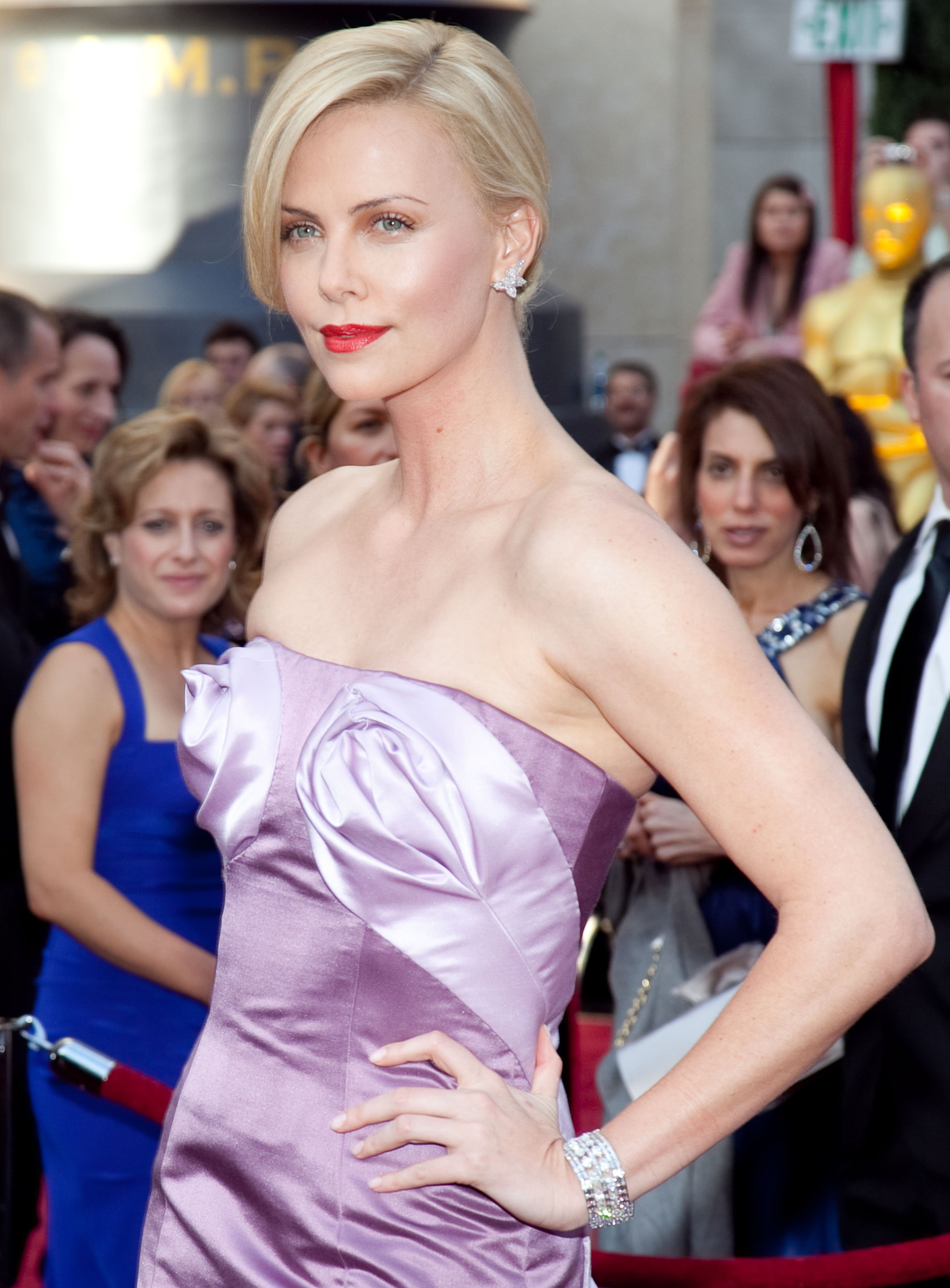Image Source: Getty Images/Charlize at a red carpet event