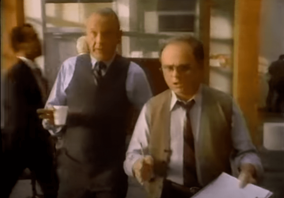 "Image Credits: YouTube /   fatherputz | Some ""M*A*S*H"" cast members on a 80s IBM commercial"