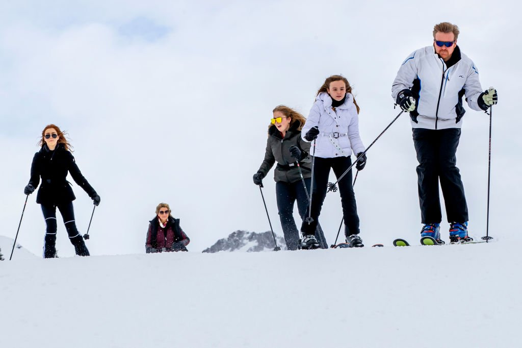 Image Credits: Getty Images | The Dutch Royal family skiing