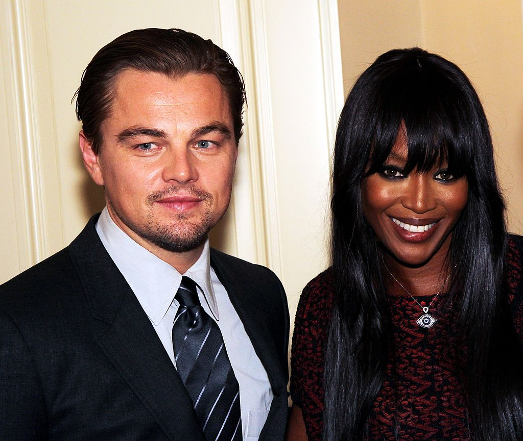 Image Source: Getty Images / Konstantin Zavrazhin | Leonardo DiCaprio and Naomi Campbell attend the International Tiger Conservation Forum on November 23, 2010 in Saint Petersburg, Russia.