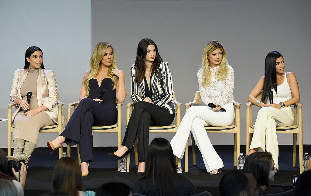 Image Source: Getty Images/WireImage/Jamie McCarthy | The Kardashians at a panel