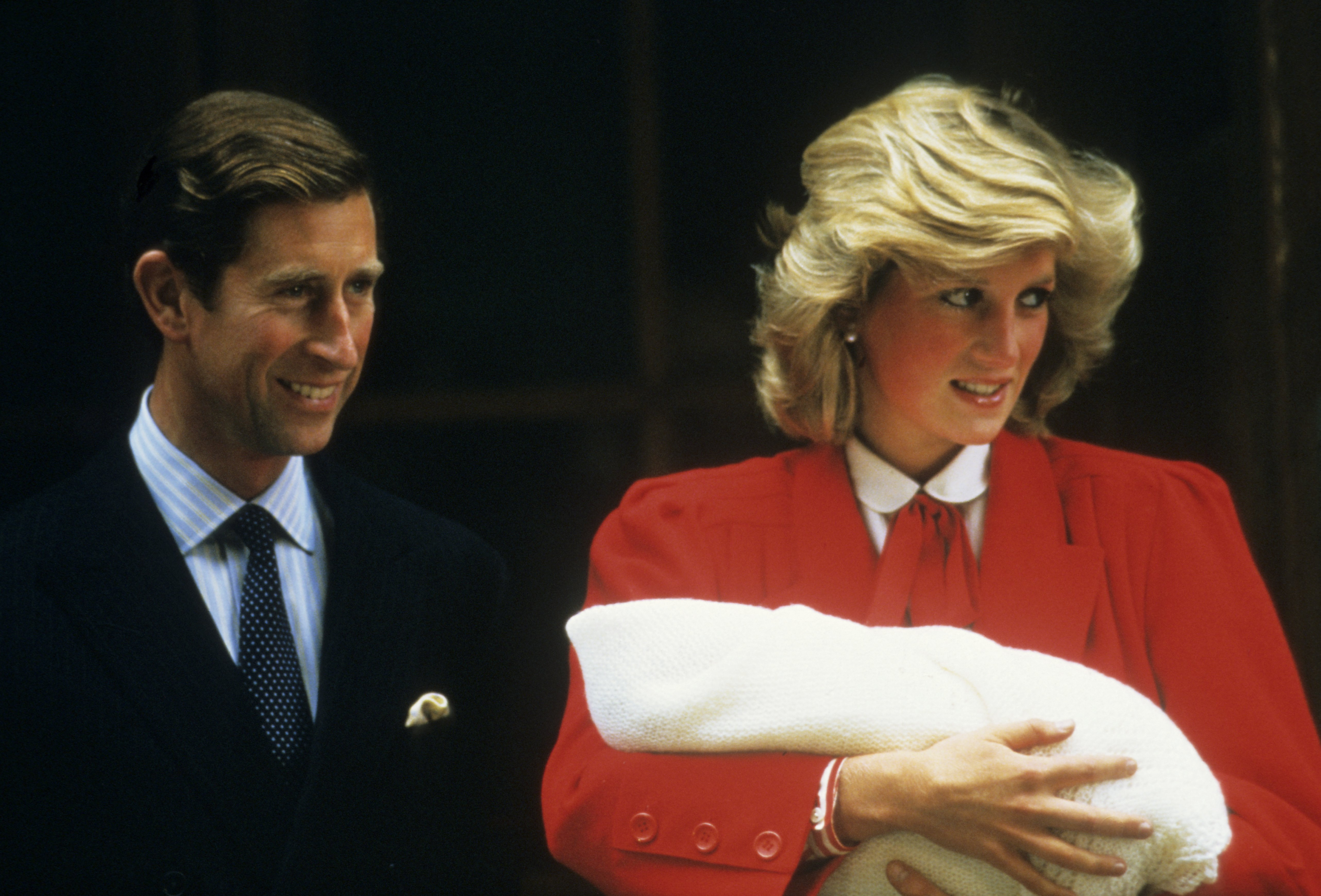 Image Credits: Getty Images | Prince Charles (left), at Princess Diana's First Hospital Delivery