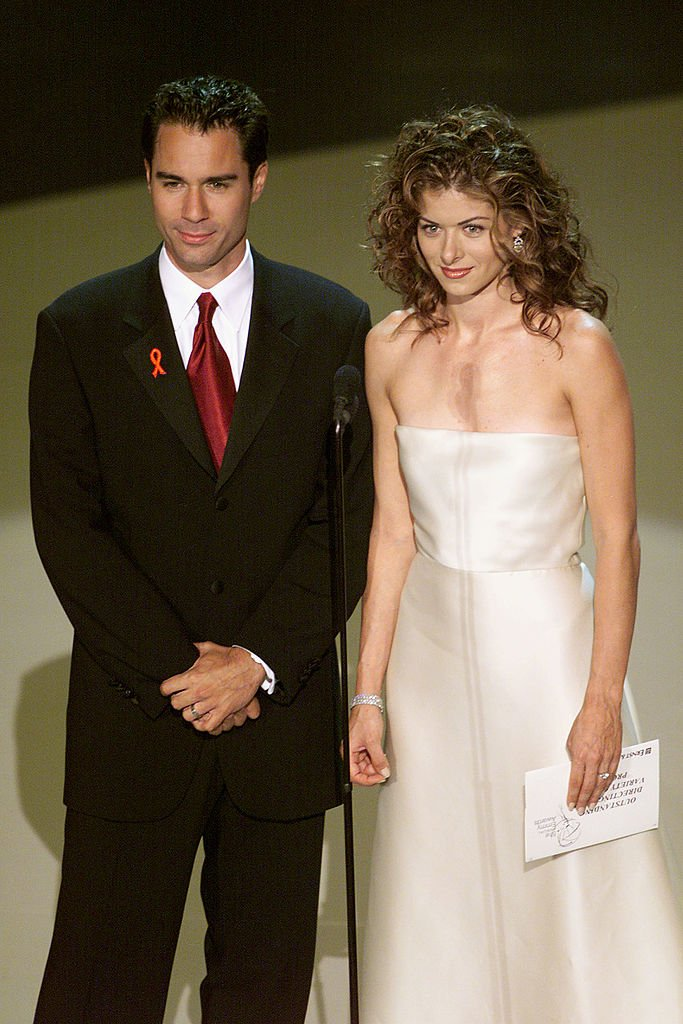 Image Source: Getty Images/Frank Micelotta Archive| Eric McCormack and Debra Messing of 'Will and Grace' at the 1999 Emmy Awards held in Los Angeles, CA 9/13/99