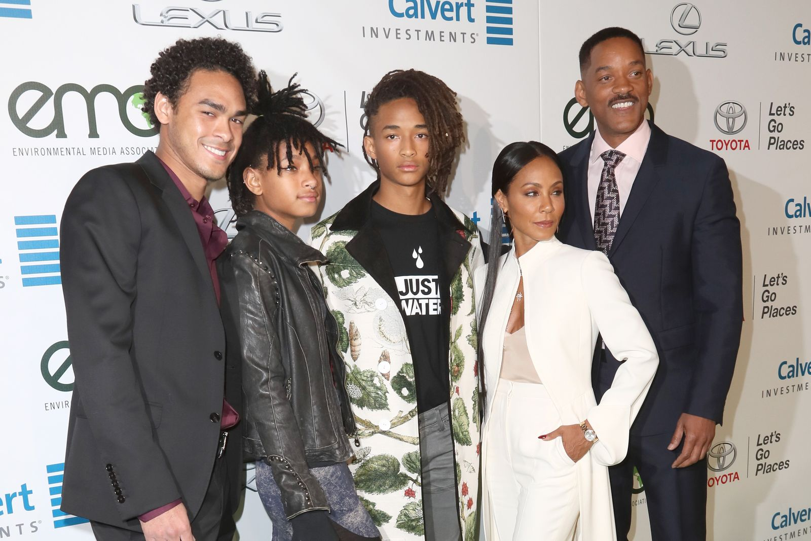 Trey Smith, Willow Smith, Jaden Smith, Jada Pinkett-Smith and Will Smith/Photo:Getty Images