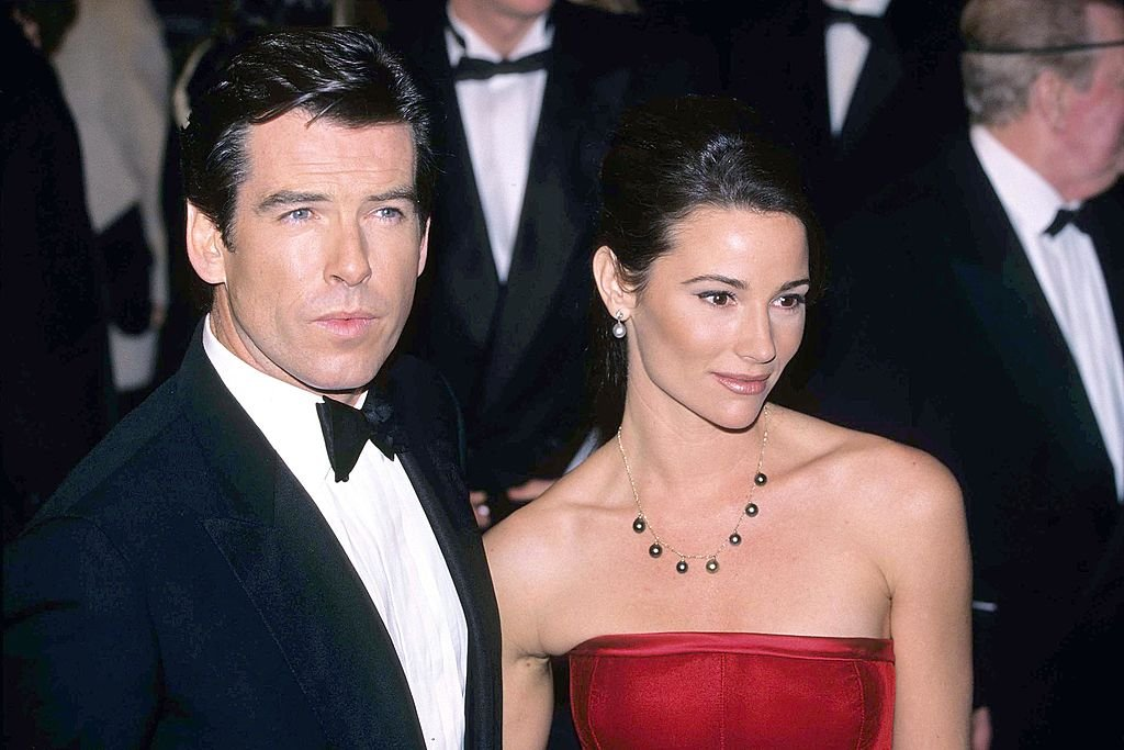 Image Source: Getty Images/FilmMagic/Fred Duval | Brosnan & Shaye in 1995