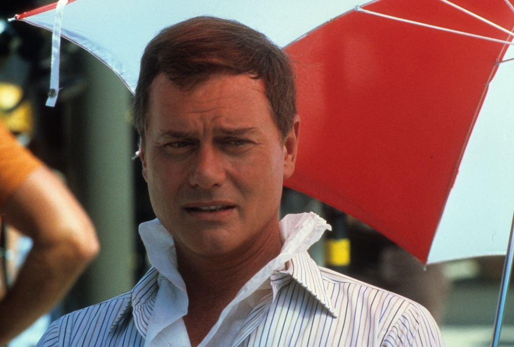 Image Credit: Getty Images /  Actor Larry Hagman on set of Dallas in July 18, 1979 in Los Angeles, California.
