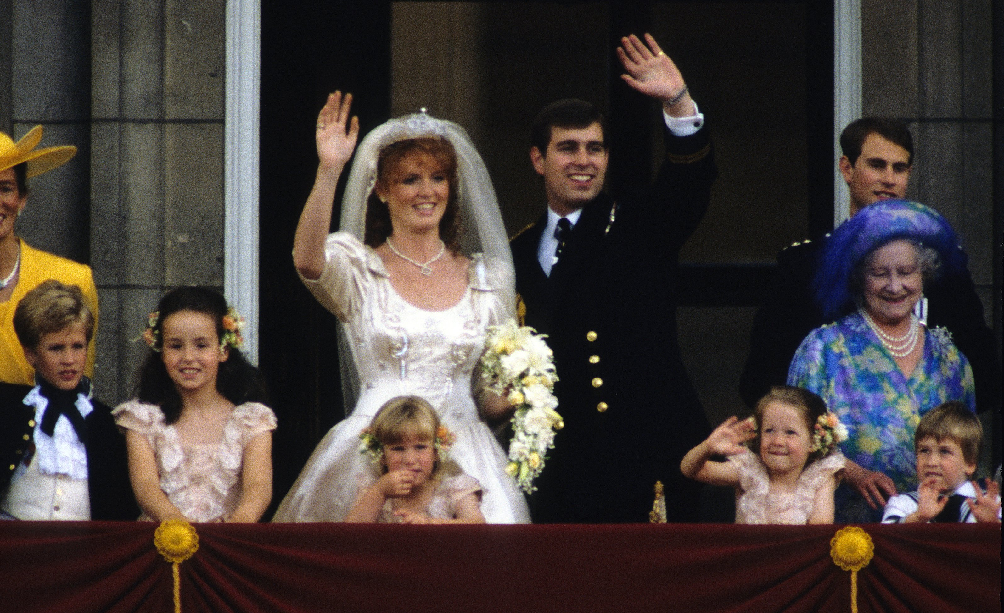 Image Source: Getty Images/John Shelley Collection/Avalon/The wedding of Prince Andrew, Duke of York, and Sarah Ferguson at Westminster Abbey, London, UK, 23rd July 1986