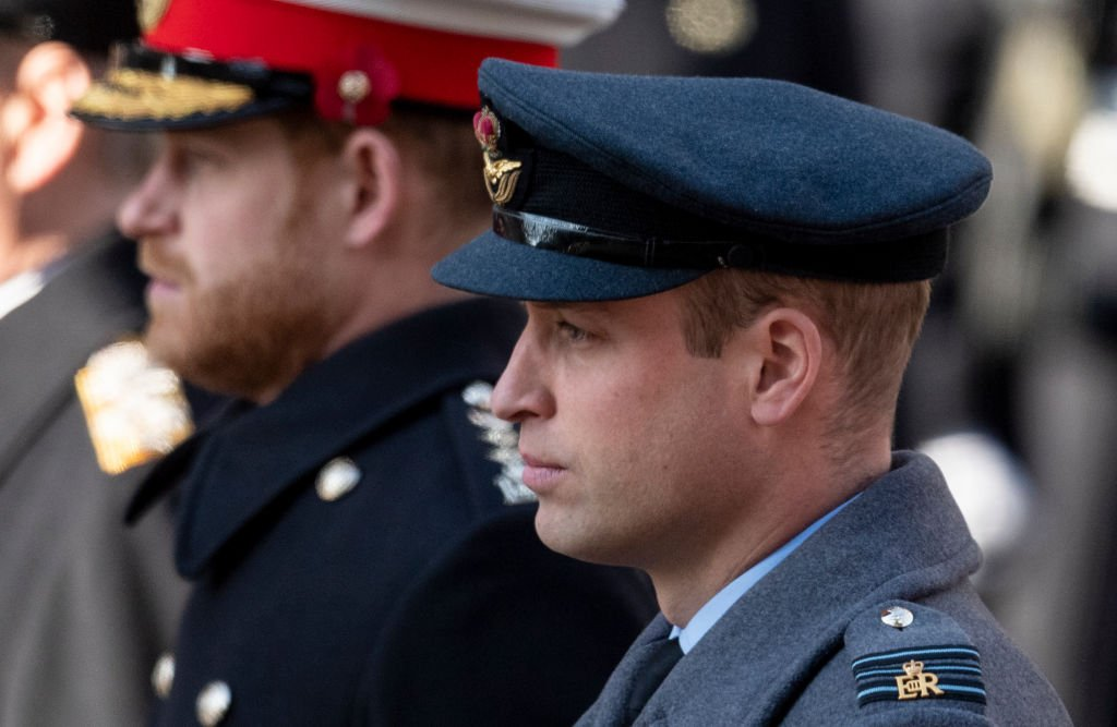 Image Credit: Getty Images / Prince William, Duke of Cambridge (R) and Prince Harry, Duke of Sussex attend the annual Remembrance Sunday memorial at The Cenotaph on November 10, 2019.