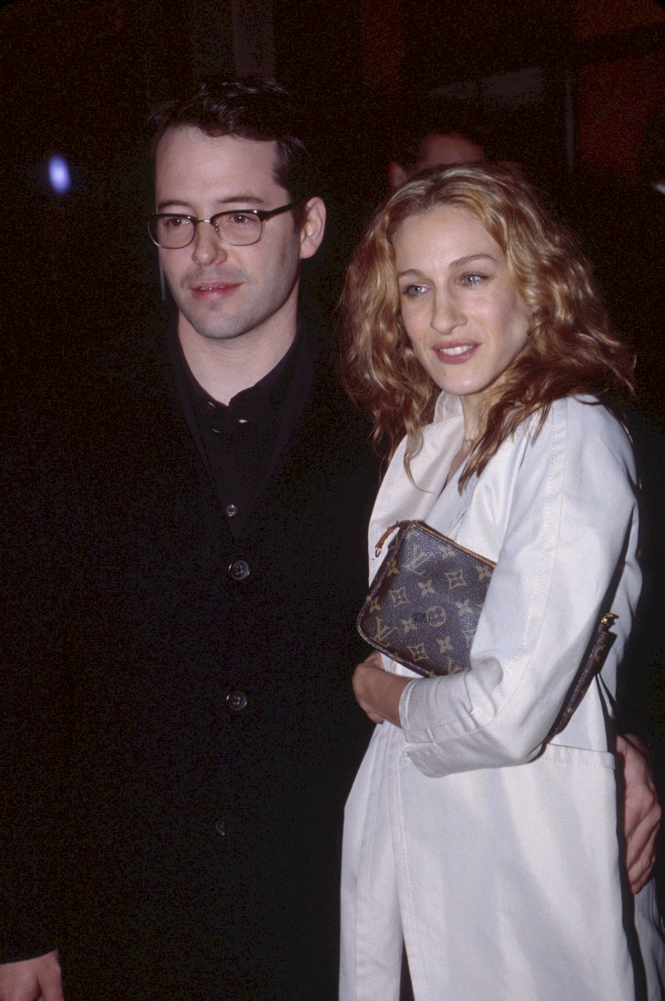 Image Credits: Getty Images / Scott Gries / ImageDirect | Matthew Broderick and Sarah Jessica Parker at the premiere of The Sopranos in New York City.