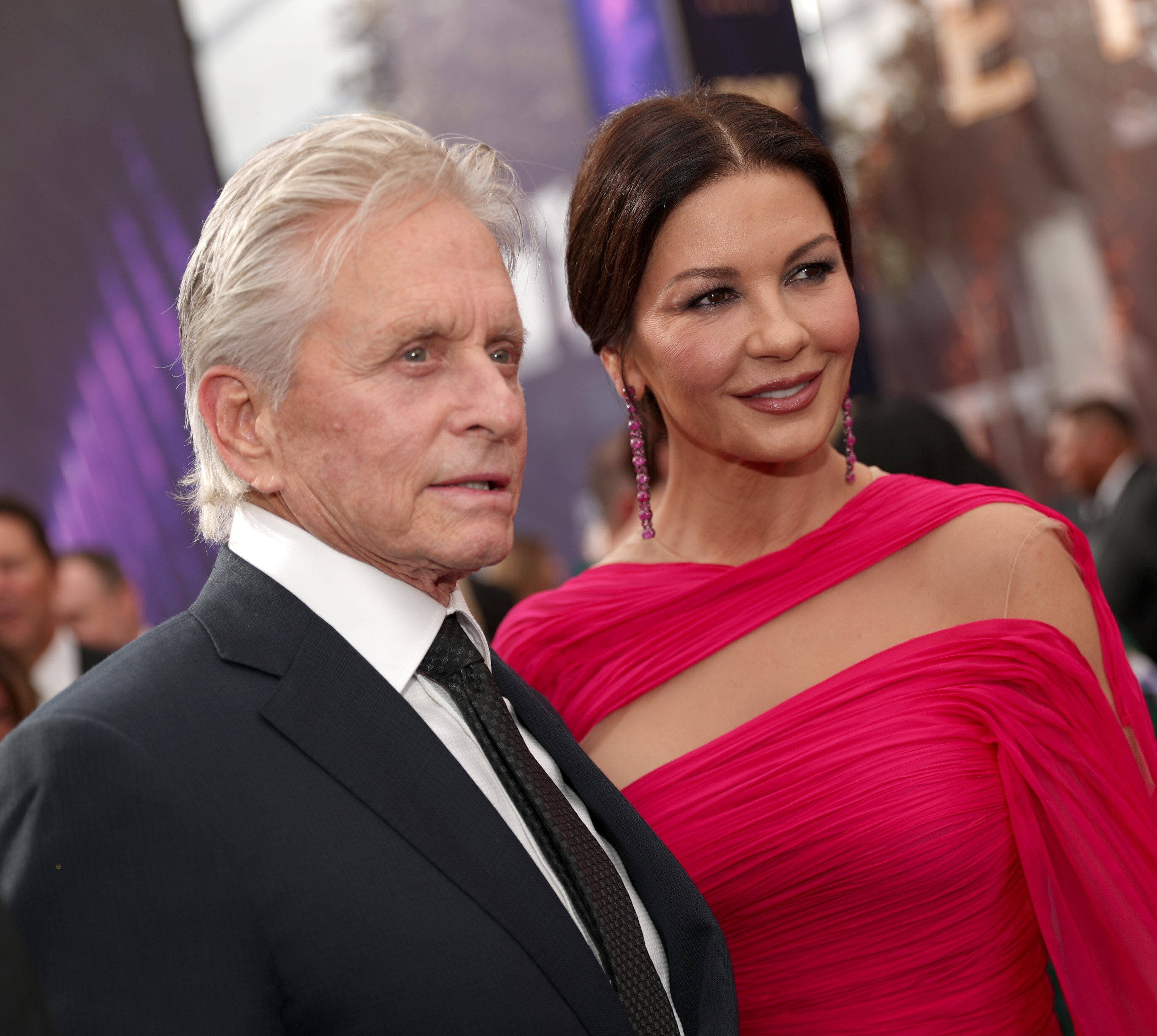 Image Credits: Getty Images / Rich Polk | Michael Douglas and Catherine Zeta-Jones walk the red carpet during the 71st Annual Primetime Emmy Awards on September 22, 2019 in Los Angeles, California.