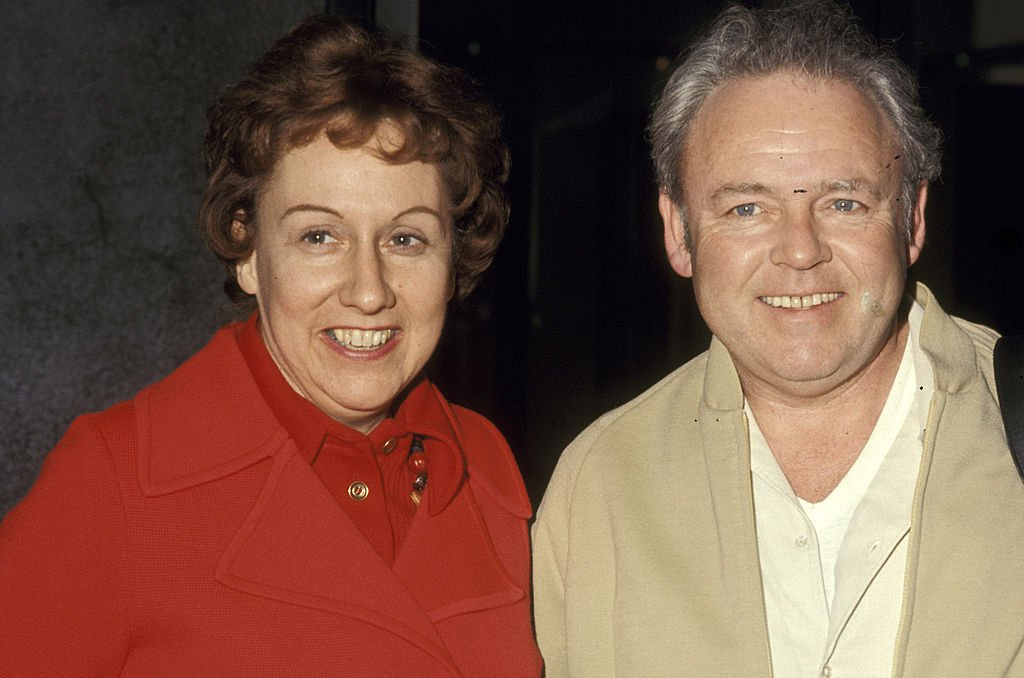"Image Credit: Getty Images / Jean Stapleton and Carroll O'Connor during Actors Arrive for ""All In The Family"" Taping - February 8, 1972 at CBS Television City in Los Angeles, California, United States."