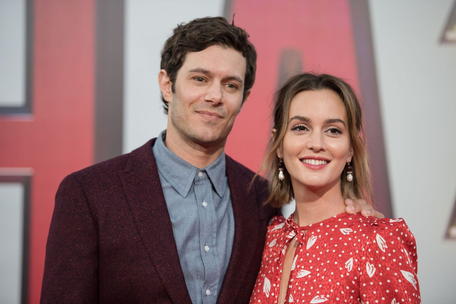 "Adam Brody and Leighton Meester arrive at Warner Bros. Pictures and New Line Cinema's world premiere of ""SHAZAM!"" at TCL Chinese Theatre in Hollywood/Photo:Getty Images"