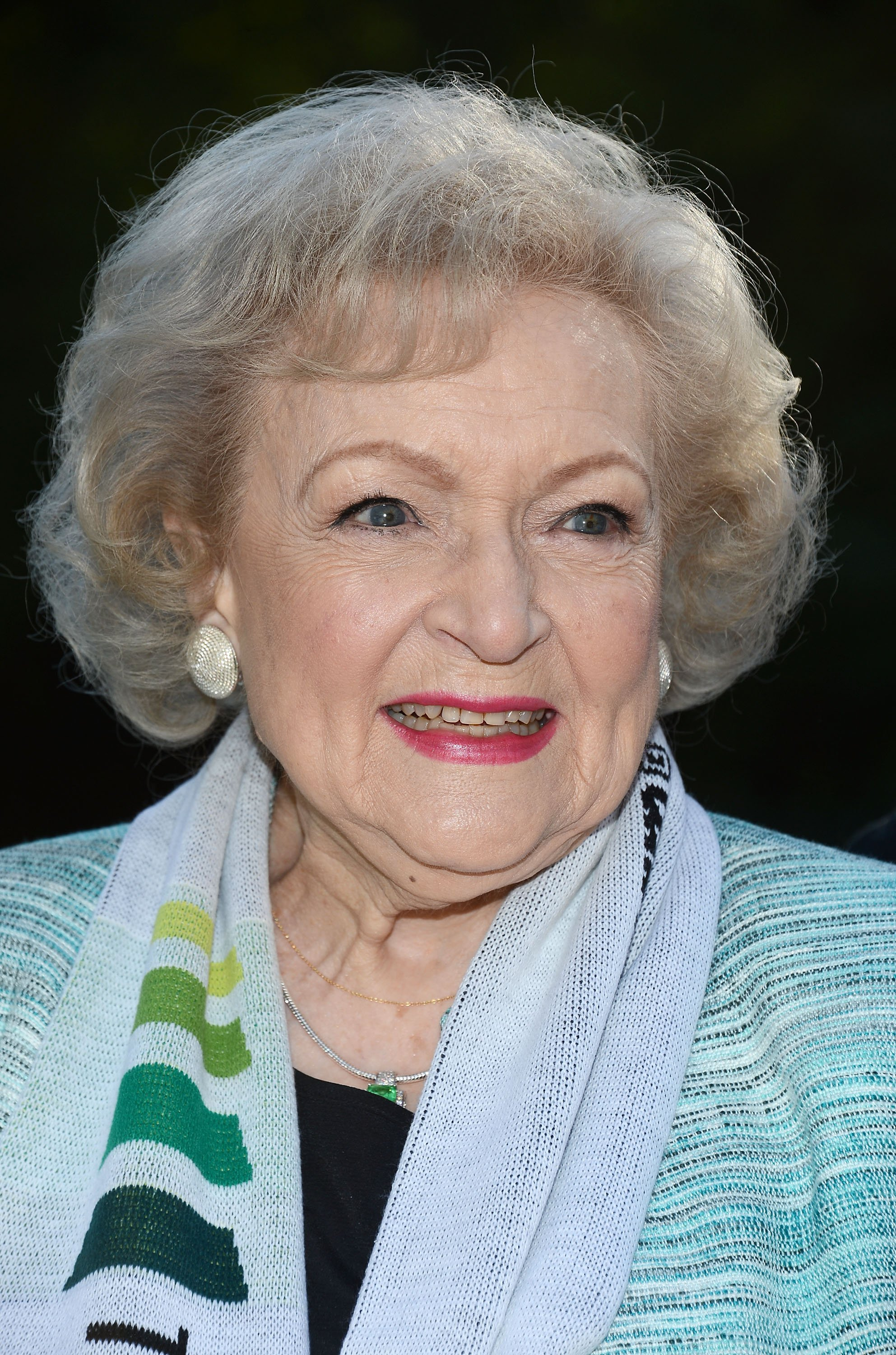 "Image Credits: Getty Images / Amanda Edwards | The Lifeline Program spokesperson Betty White hosts the ""White Hot"" Holiday Event at The Los Angeles Zoo on December 11, 2012 in Los Angeles, California."