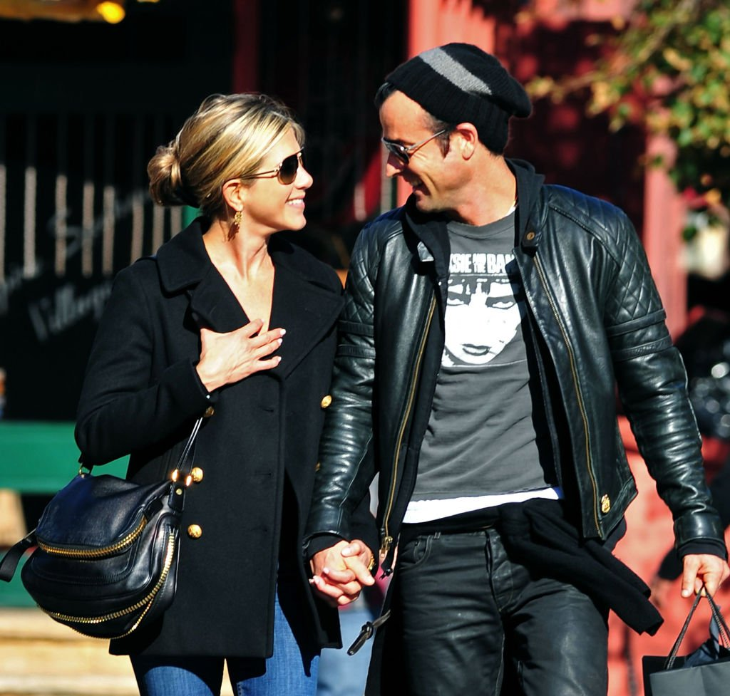 Image Credit: Getty Images / Jennifer Aniston and Justin Theroux walk in the West Village on September 18, 2011 in New York City.