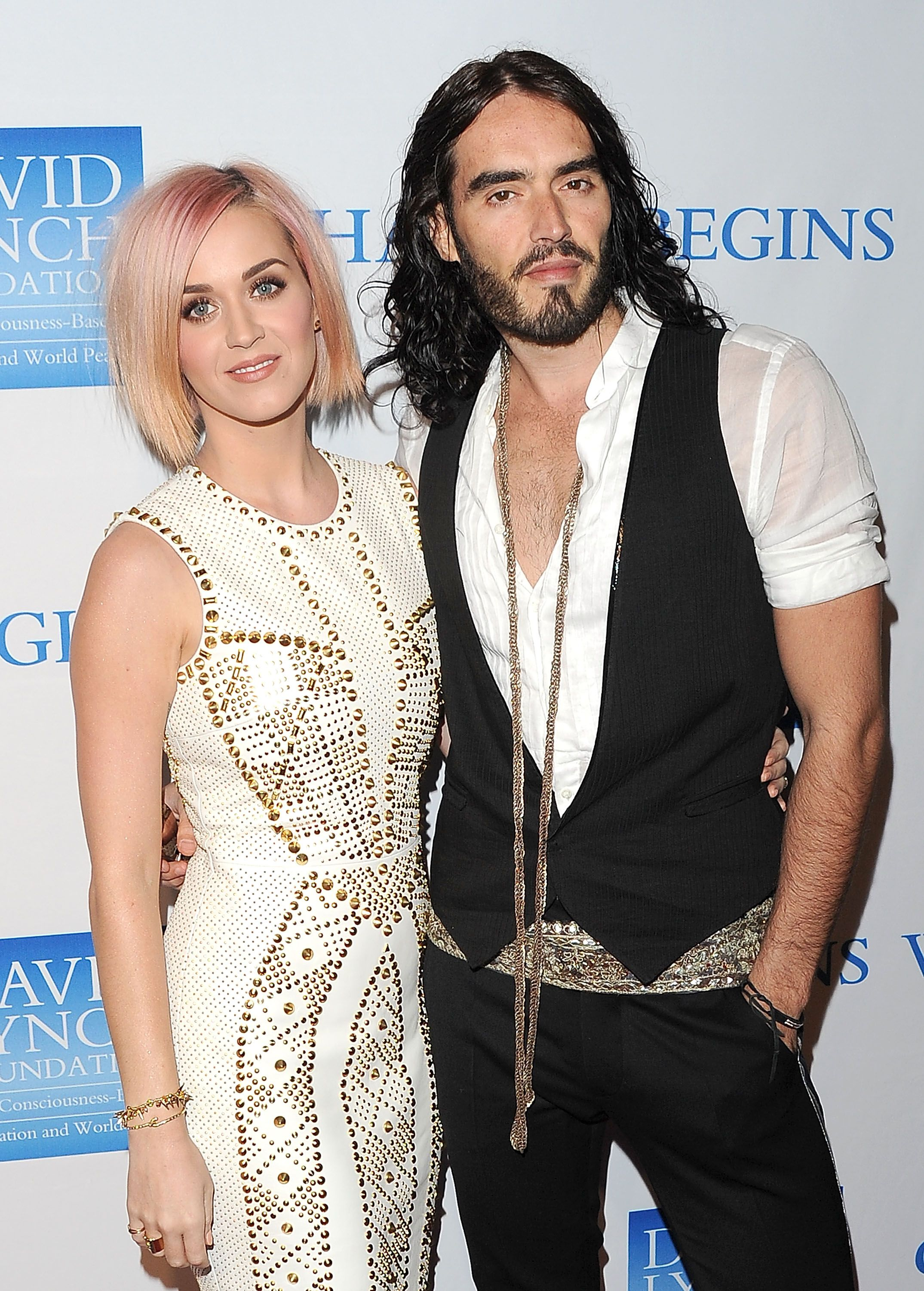 Katy Perry and her ex-husband Russel Brand / Getty Images