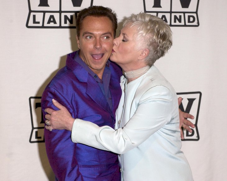 Image Credit: Getty Images / David Cassidy and his stepmother, Shirley Jones.