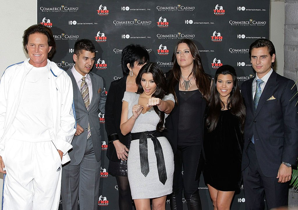 Image Credit: Getty Images / Bruce Jenner, Robert Kardashian, Kris Jenner, Kim, Khloe, Kourtney Kardashian and Scott Disick attend the Kardashian Charity Knock Out in Los Angeles, California.