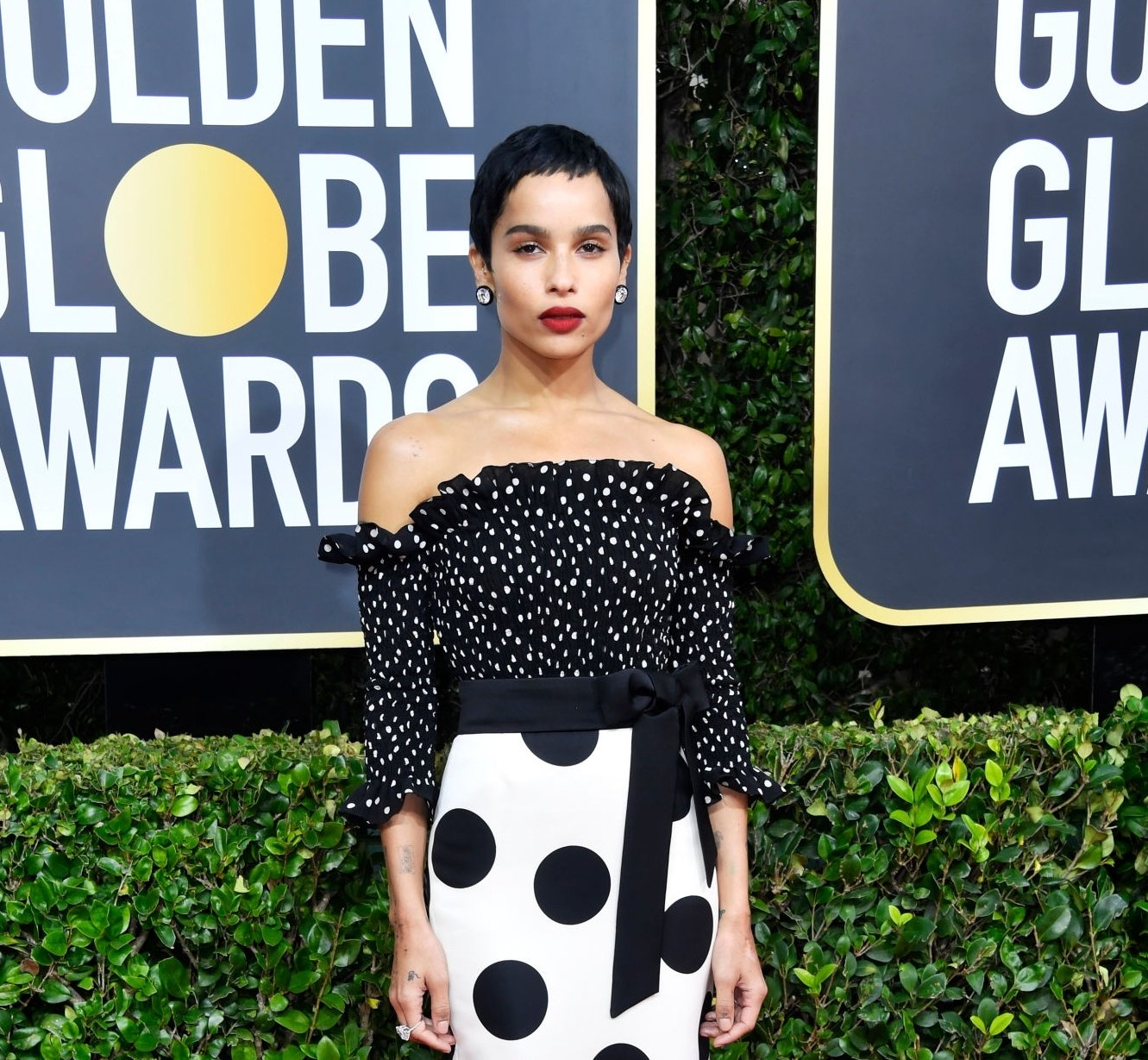 Image Credit: Getty Images/Zoe at the Golden Globes