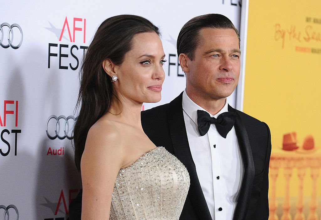 """Image Credit: Getty Images / Angelina Jolie and Brad Pitt attend the premiere of """"By the Sea"""" at the 2015 AFI Fest at TCL Chinese 6 Theatres on November 5, 2015 in Hollywood, California."""